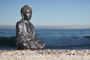 Japanese Buddha and Shoreline 9272